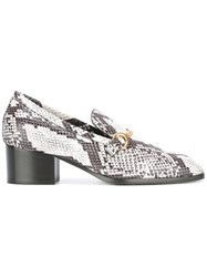 Stella Mccartney Python Effect Loafers White