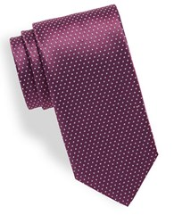 Hugo Small Dotted Silk Tie Purple