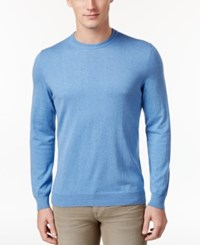 Club Room Men's Classic Fit Jersey Sweater Only At Macy's Granada Blue Heather