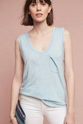 Anthropologie Pocket Tunic Top Blue
