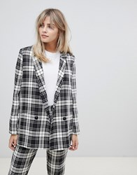 Asos Design Mono Check Suit Blazer Multi