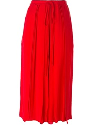 Lost And Found Culotte Trousers Red