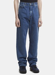 Martine Rose High Waisted Jeans Blue