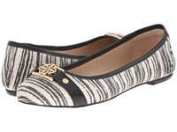 Isola Bricen Black White Striped Airao Women's Flat Shoes Gray