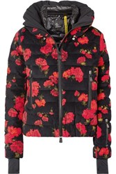 Moncler Genius 3 Grenoble Floral Print Quilted Cotton Blend Down Jacket Red