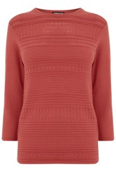 Warehouse Pretty Stitch Crew Jumper Pink