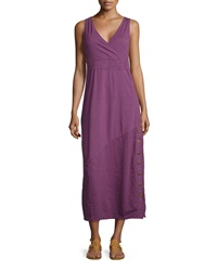 Neon Buddha Wilderness Side Button Jersey Dress Summer Plum