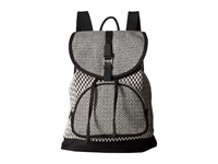Toms Departure Pattern Weave Backpack Black White Backpack Bags