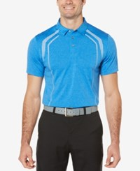 Pga Tour Men's Luminous Golf Polo Medium Blue
