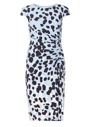 Dorothy Perkins Lily And Franc Abstract Spotted Ruched Bodycon Dress Fl Multi