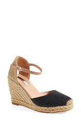 Halogen 'Sandra' Wedge Espadrille Women Black