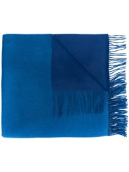 N.Peal Woven Cashmere Scarf Blue