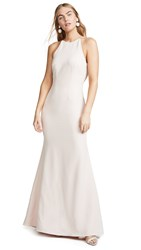 Wayf The Nina Cowl Back Gown Ballet Pink