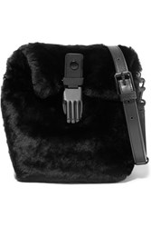 Opening Ceremony Shearling Shoulder Bag Black