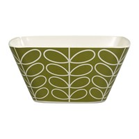 Orla Kiely Bamboo Salad Bowl Linear Stem Seagrass