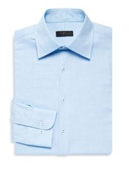 Ike Behar Slim Fit Textured Dress Shirt Aqua