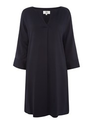 Noa Noa Solid Stretch Tunic Navy