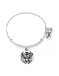 Alex And Ani Wild Heart Charm Bangle Silver