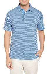 Bobby Jones 'S Xh2o Tranquil Stripe Jersey Polo Sky Blue