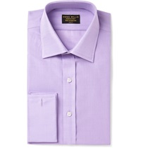 Emma Willis Lilac Double Cuff Cotton Shirt Purple