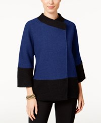 Jm Collection Colorblocked Wool Jacket Only At Macy's Bright Sapphire