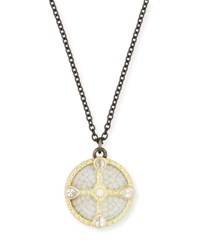 Armenta Old World Mosaic Shield Pendant Necklace With Diamonds And Sapphires Gold