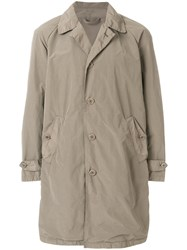 Aspesi Single Breasted Raincoat Brown
