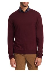 Saks Fifth Avenue Collection Cashmere Sweater Burgundy