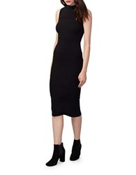 Rachel Roy Beaded Neckline Bodycon Dress Black