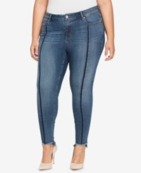 William Rast Plus Size Seamed Step Hem Skinny Jeans Vivid