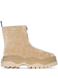 Eytys Raven Zip Up Ankle Boots Neutrals