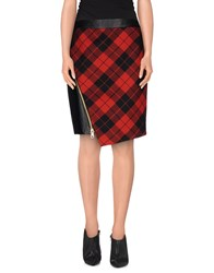 Milly Skirts Knee Length Skirts Women Red