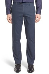 Ted Baker Roynew Classic Fit Flat Front Trouser Blue