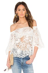 Elliatt Serenity Off The Shoulder Top White