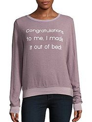 Wildfox Couture Boatneck Letter Printed Tee Blackberry