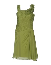 Carlo Pignatelli Knee Length Dresses Light Green