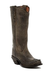 Lucchese Mad Dog Stud Cowboy Boot Gray