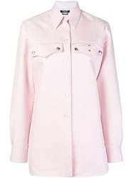 Calvin Klein 205W39nyc Embellished Western Shirt Pink And Purple