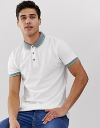 Esprit Polo With Contrast Collar White