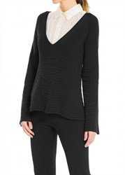 Leon Max Long Sleeved Textural Knitted Pullover
