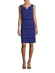 Lafayette 148 New York Regency Striped Sleeveless Dress Regency Blue