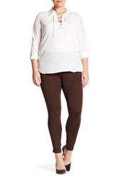 One 5 One Side Panel Ponte Legging Brown