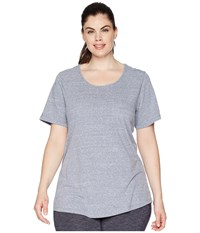 Aventura Clothing Plus Size Dharma Short Sleeve Top Blue Indigo