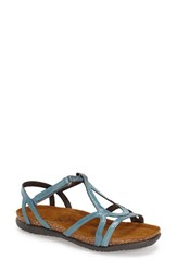 Naot Footwear Women's Naot 'Dorith' Sandal Teal Patent Leather