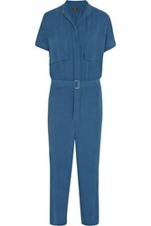 By Malene Birger Maddias Twill Jumpsuit Blue