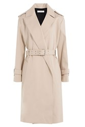 Iro Belted Cotton Coat Beige