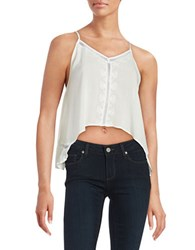 Design Lab Lord And Taylor Embroidered Hi Lo Tank Top White