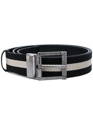 Bally Striped Belt Black