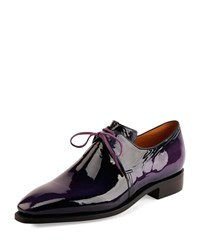 Corthay Arca Patent Leather Derby Shoe Purple