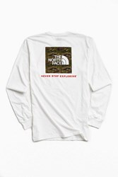 The North Face Red Box Long Sleeve Tee White